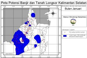 peta banjir januari