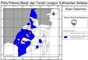 peta potensi rawan banjir dan tanah longsor bulan Desember